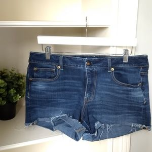AEO Denim Shortie 14 Shorts Blue Jean American Eag